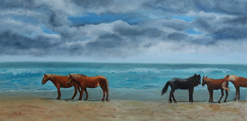 Wild Horse Adventure Tours - Jan Priddy Fine Art - Oil Paintings